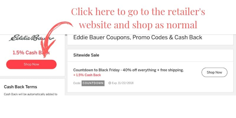 how to find a retailer on ebates to save money shopping online