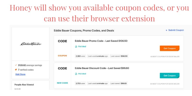 honey coupon codes to save money shopping online