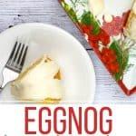 eggnog cake on a plate