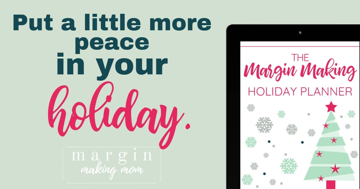 margin making holiday planner