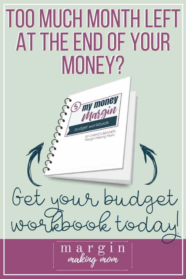 Are you tired of getting to the end of the month with no money? Do you look around and wonder where it all went? If so, a budget is one of the best tools to get your finances on track! Get started with this budget workbook, which can help you get organized and make progress toward your goals. #budgetworkbook #personalfinances #budget