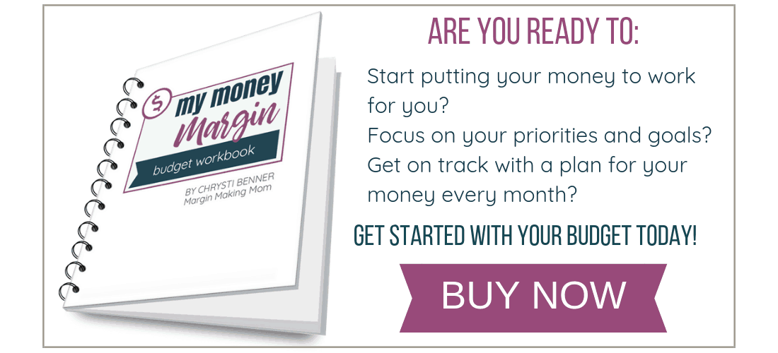 My Money Margin Budget Workbook Buy Now