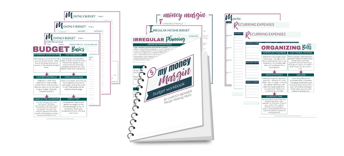 My Money Margin Budget Workbook