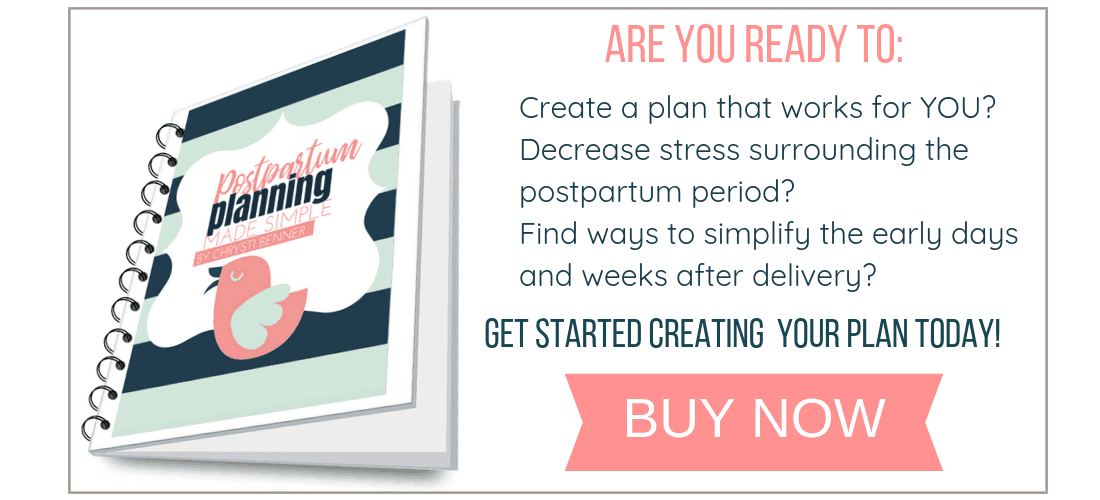 are you ready to create a postpartum plan