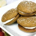 Pumpkin Whoopie Pies with Maple Marshmallow Cream Cheese Filling
