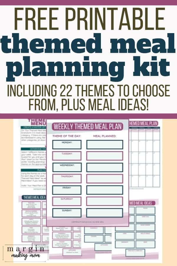 themed menu planning with an ultimate list of theme night ideas and printable templates