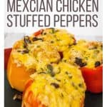 Instant Pot pressure cooker stuffed peppers with chicken