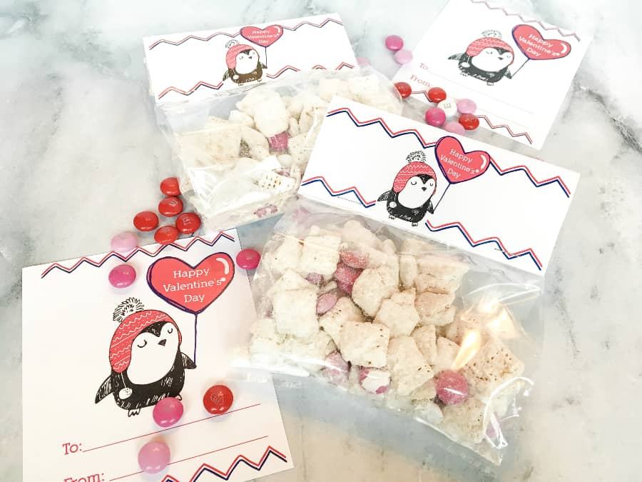 free penguin valentines cards and bag toppers