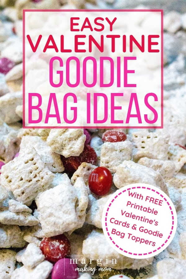 Valentine's snack mix for goodie bags