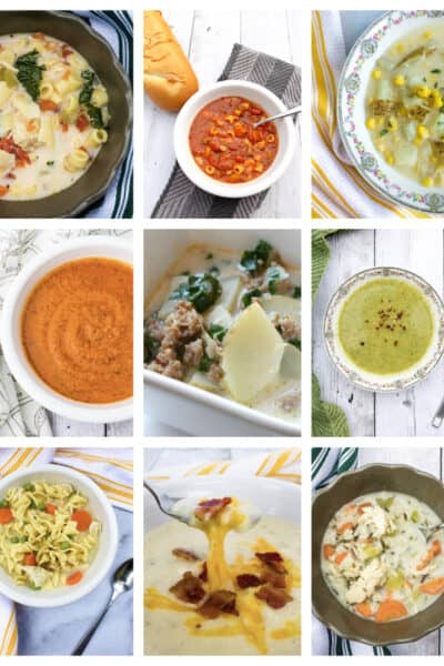 collage of the best Instant Pot soup recipes