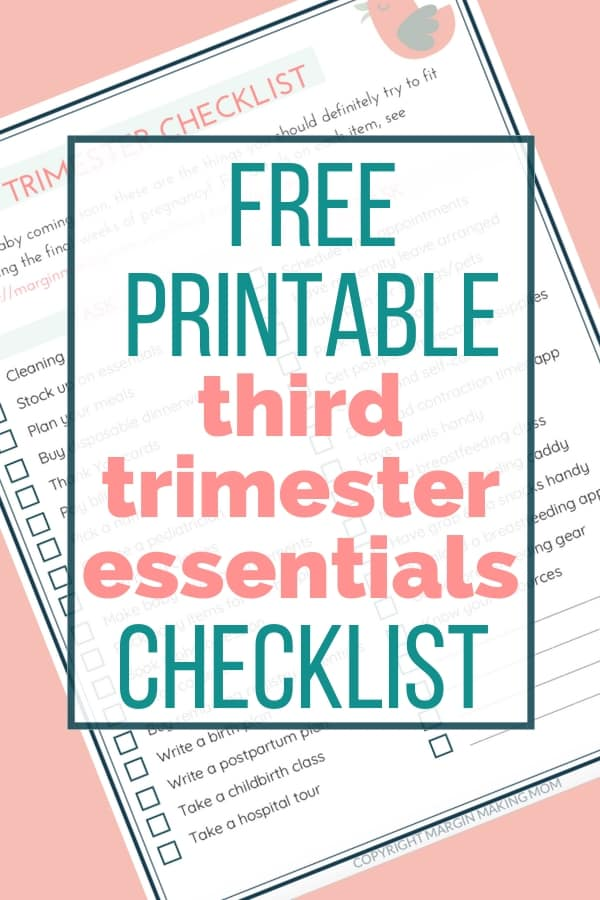 printable third trimester checklist pdf