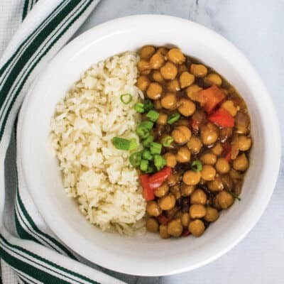 Instant Pot Kung Pao Chickpeas