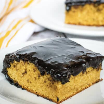 Old Fashioned Peanut Butter Cake with Dark Chocolate Frosting