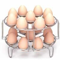 Egg Steamer Rack, Packism Steaming Rack Fit 6,8Qt Instant Pot Accessories Air Fryer Cook 18 Eggs, Stainless Steel Kitchen Trivet Basket Stackable Vegetable Steaming Holder Pressure Cooker Accessories