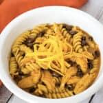 Easy, Cheesy Instant Pot Chicken Enchilada Pasta