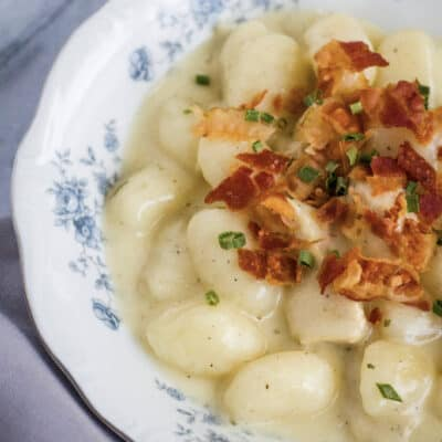 Instant Pot Bacon Chicken Ranch Gnocchi