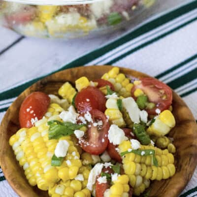Sweet Corn and Tomato Salad (using the Instant Pot!)