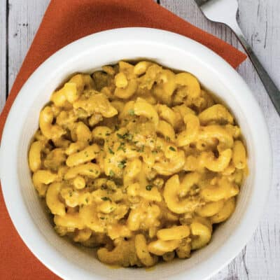 Instant Pot Pumpkin Macaroni and Cheese with Sausage