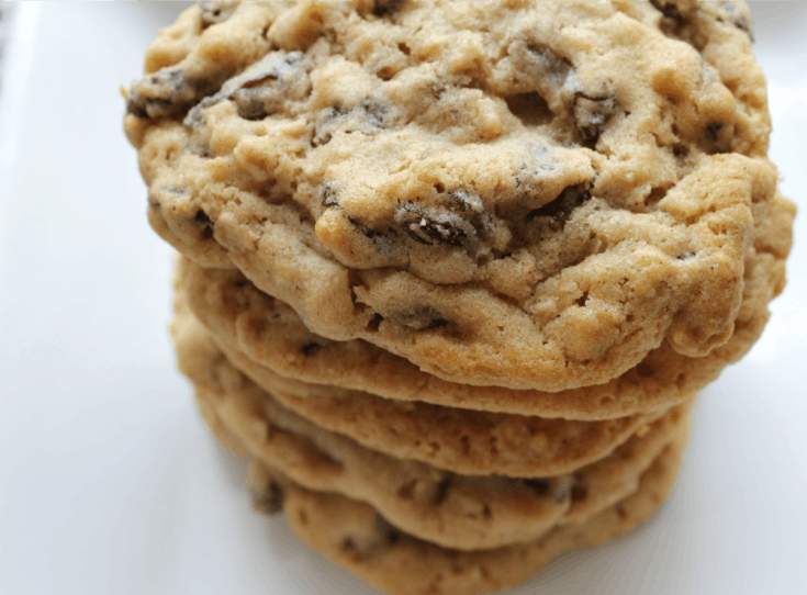 Bakery Style Oatmeal Raisin Cookies