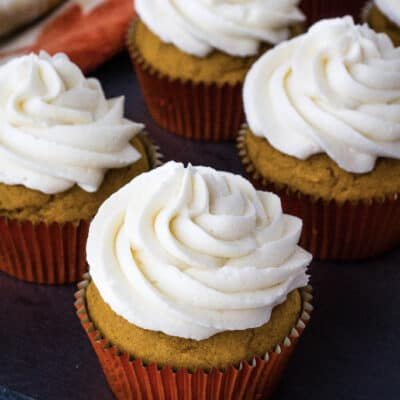 Easy Pumpkin Cupcakes with Boiled Milk Frosting