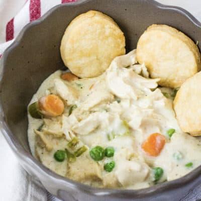 Instant Pot Chicken Pot Pie (with Pie Crust or Biscuits!)