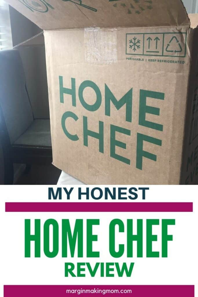 Home chef box on a table