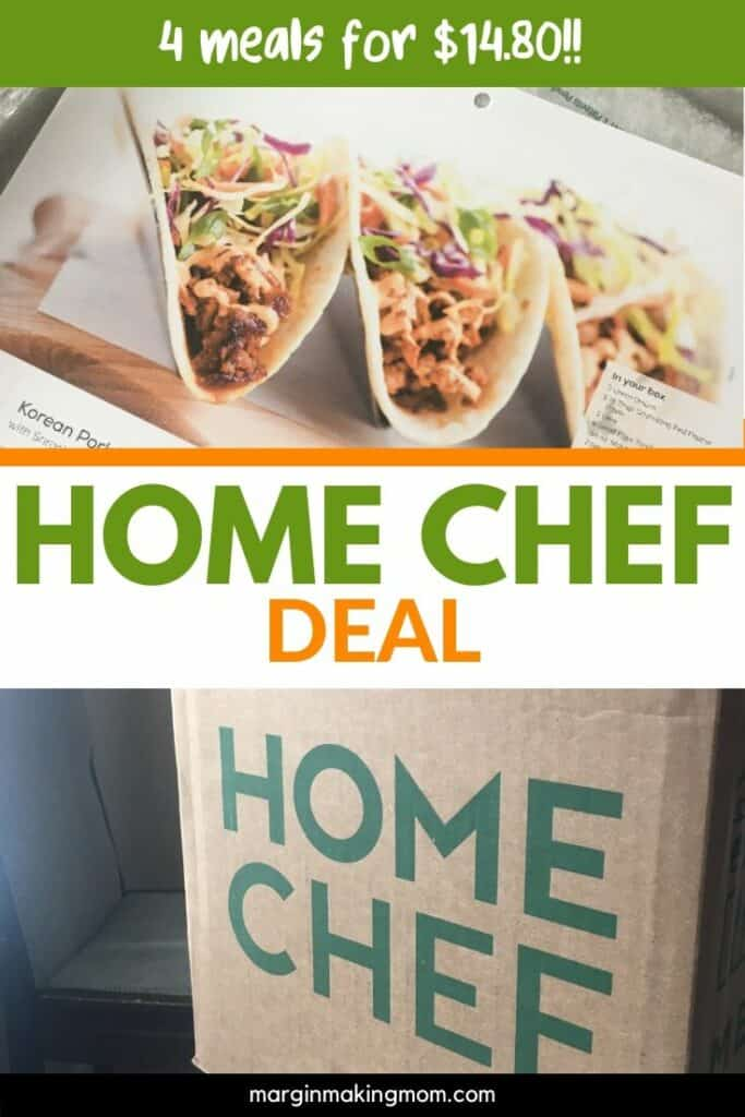 Home Chef box and recipe cards