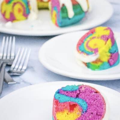 Easy Instant Pot Rainbow Bundt Cake