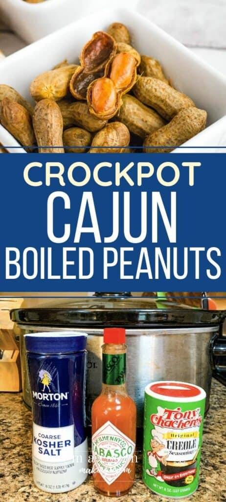 bowl of Cajun boiled peanuts that were cooked in the slow cooker