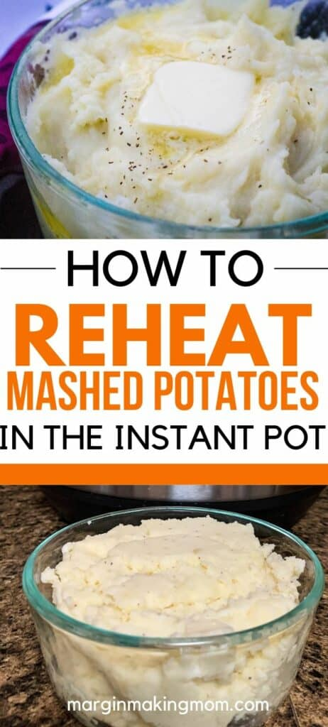 glass Pyrex dish full of mashed potatoes with butter melting on top