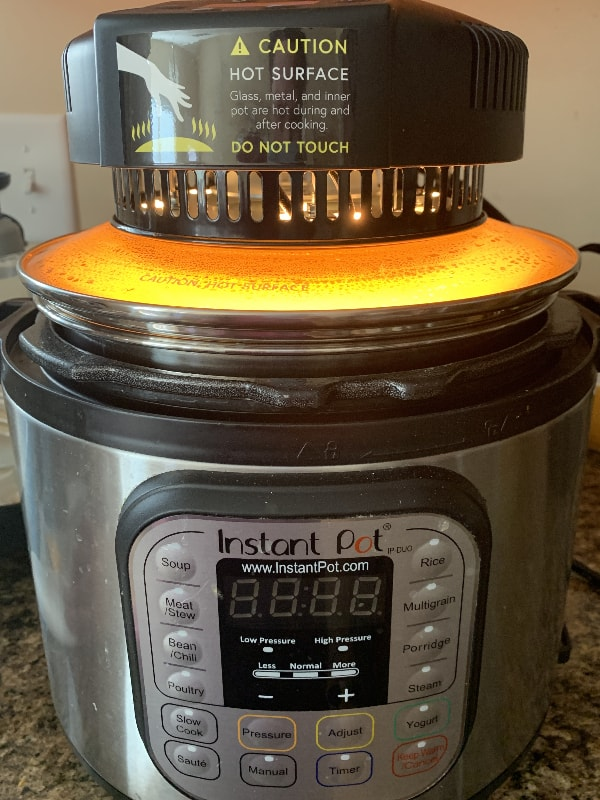 mealthy crisplid on an Instant Pot for browning cheese
