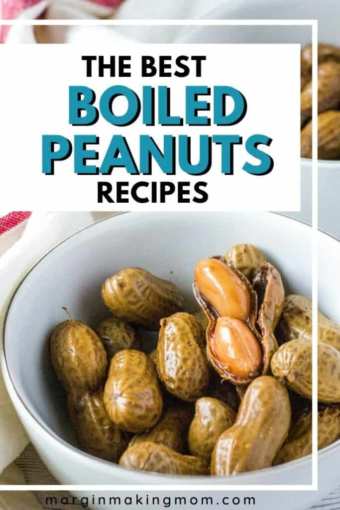 white bowl of boiled peanuts