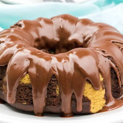 Instant Pot Peanut Butter and Chocolate Bundt Cake
