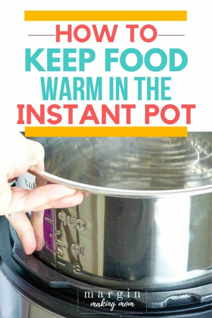 hand lowering an insert pot into an Instant Pot