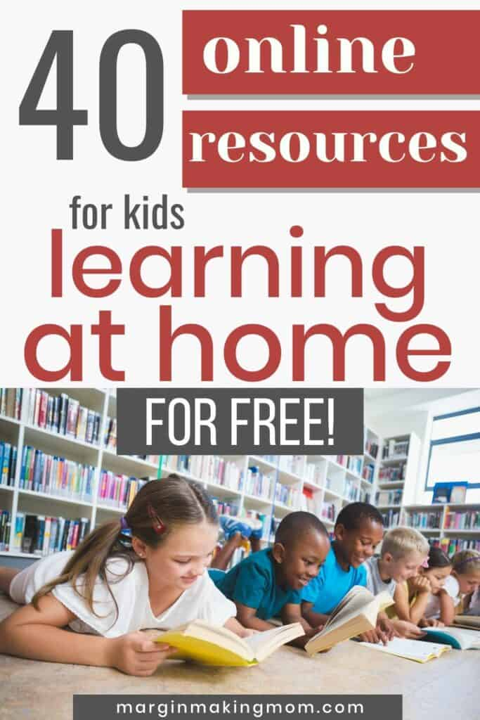 kids learning at home by reading books