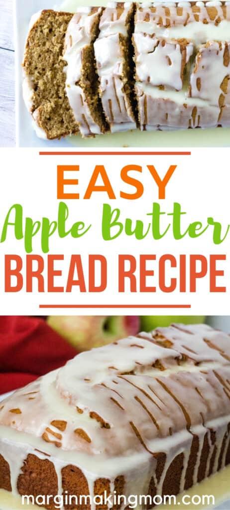 sliced loaf of apple butter bread