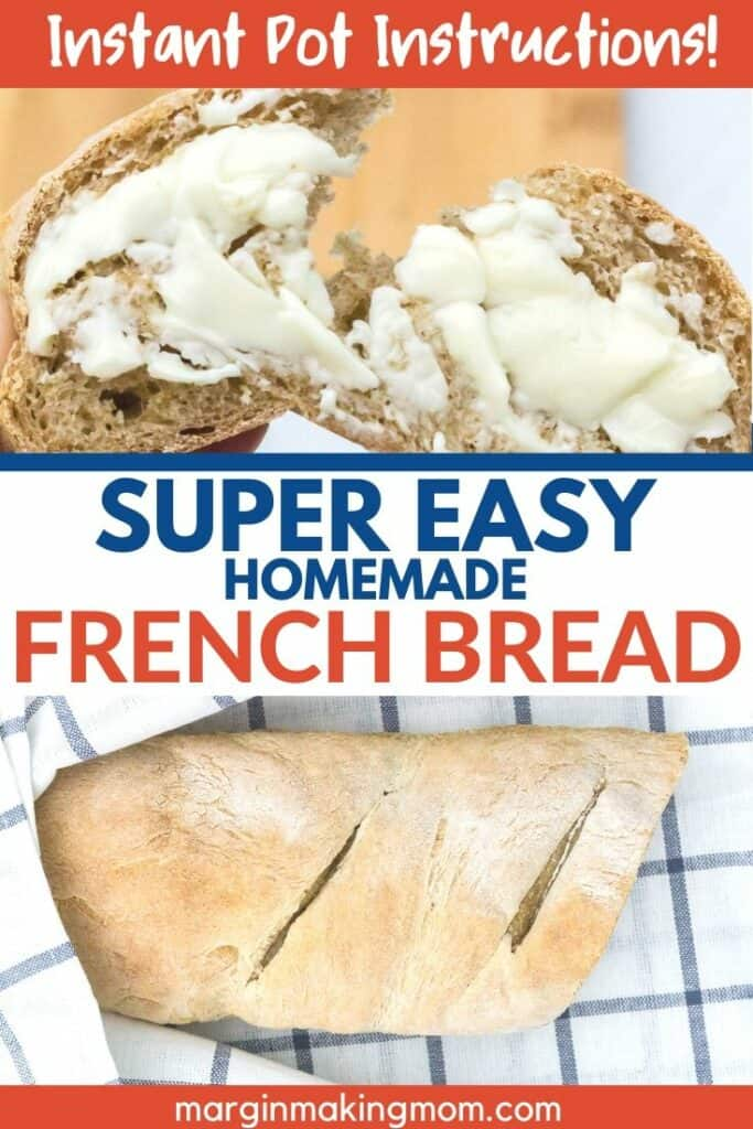 a loaf of easy french bread with a slice of french bread