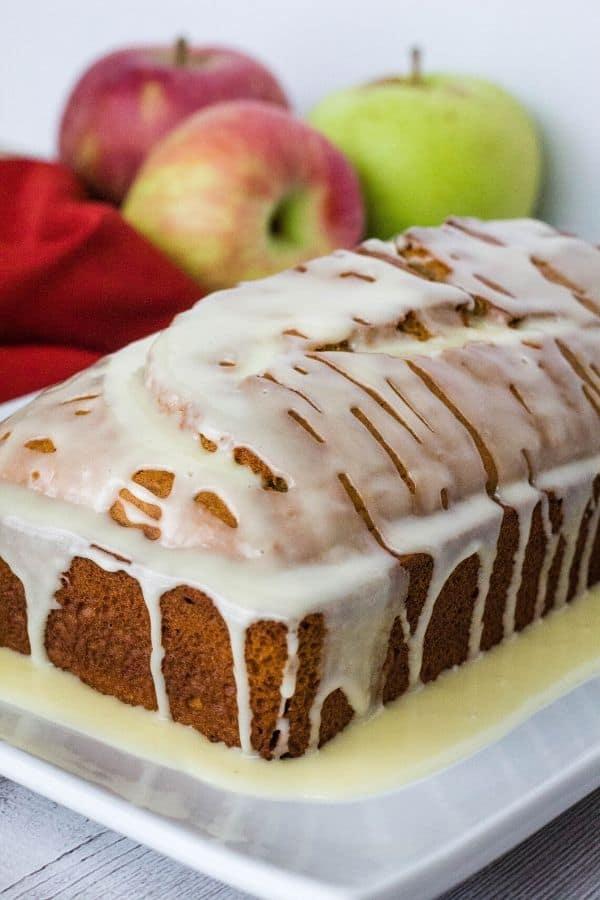 loaf of glazed apple butter bread
