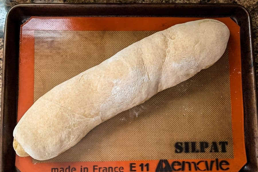 french bread dough that has doubled in size