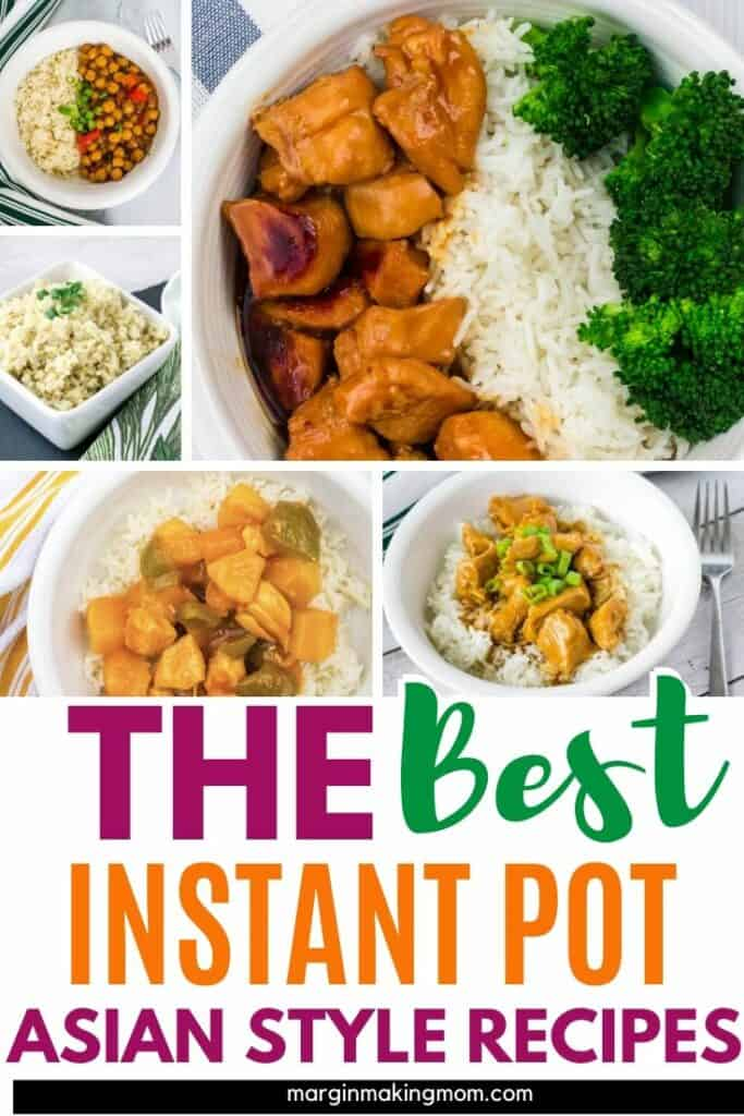 collage image showing various Instant Pot Asian recipes