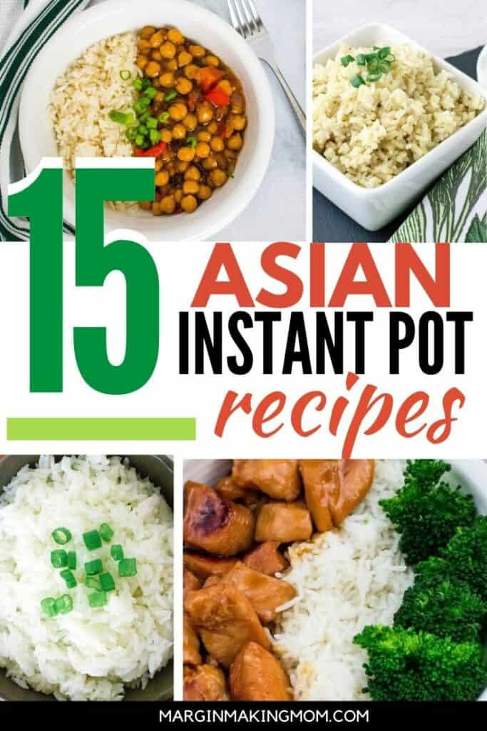 collage of images of Instant Pot Chinese takeout recipes