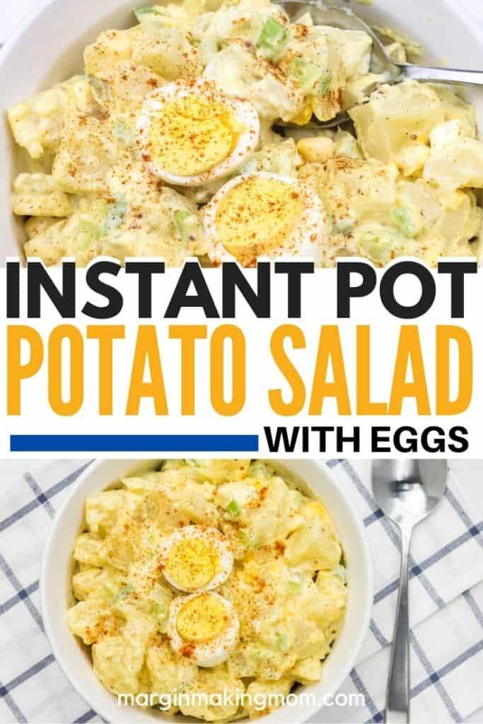 dishes of potato salad