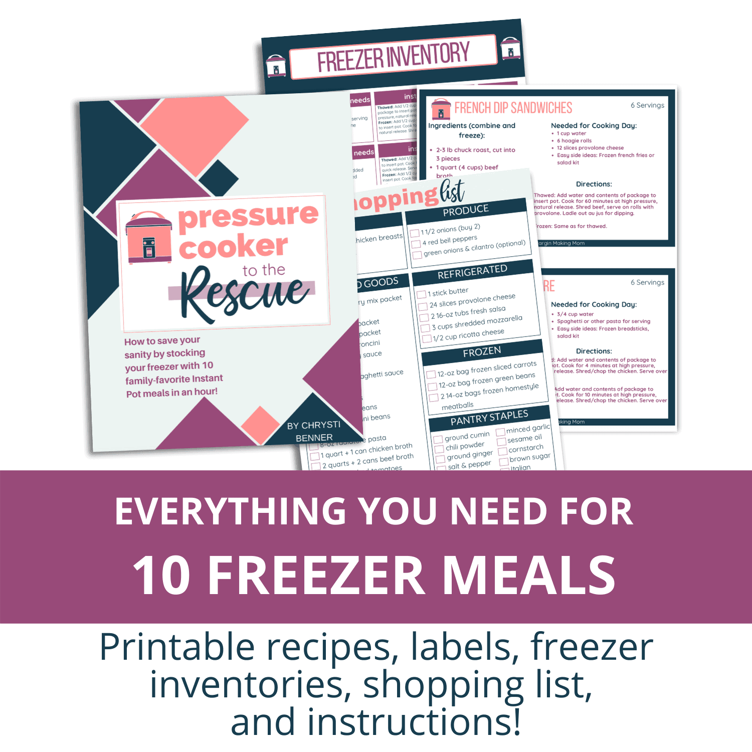 pressure cooker to the rescue instant pot freezer meals mockup