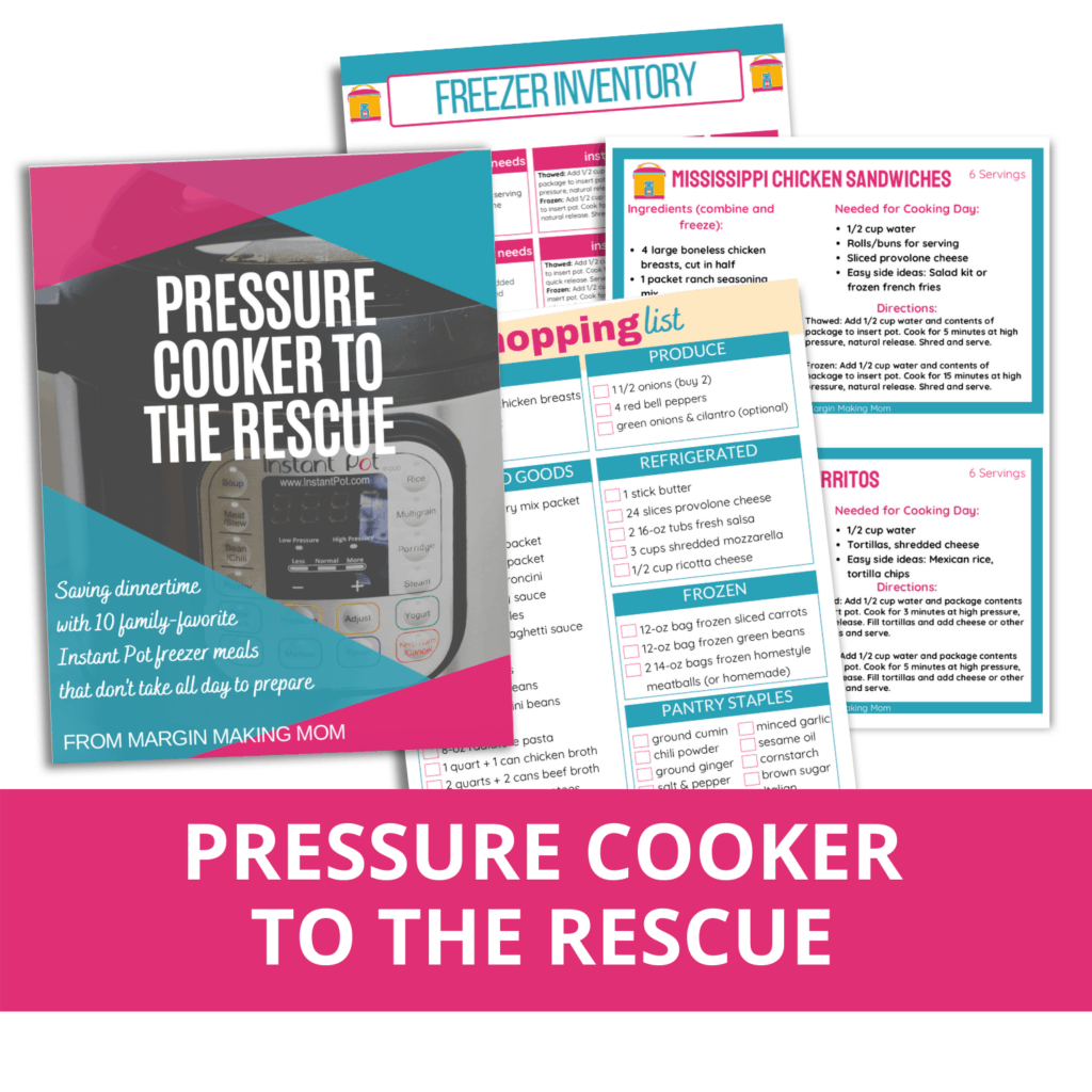 mockup of the pages in pressure cooker to the rescue