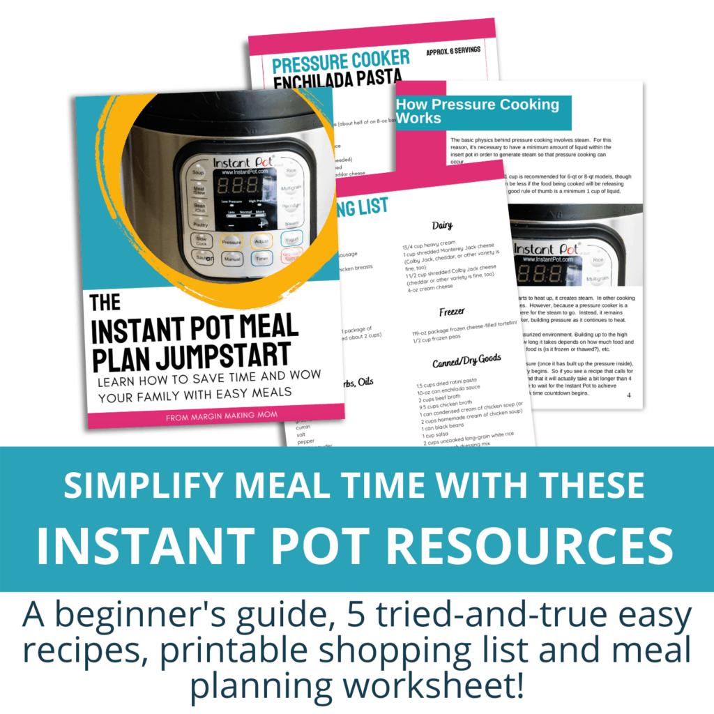 instant pot meal plan jumpstart