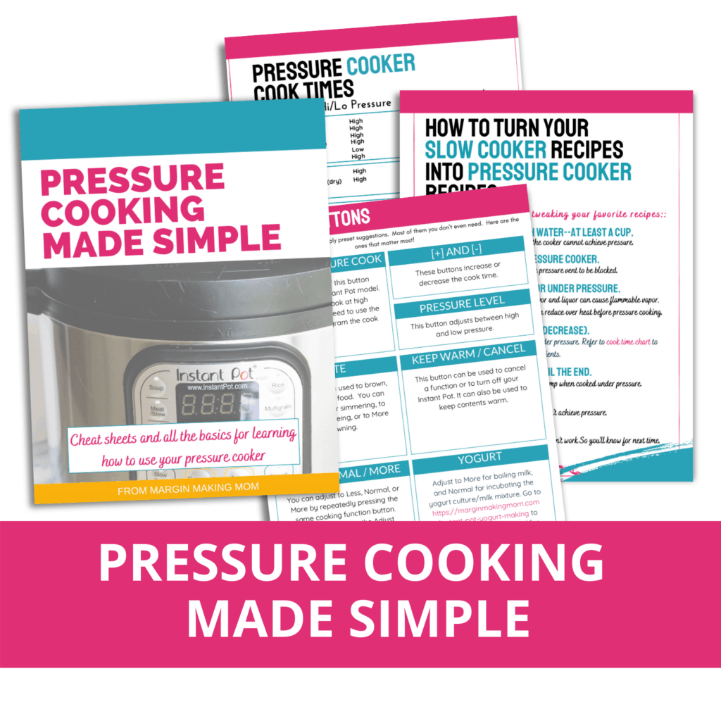 mockup of the pages in pressure cooking made simple