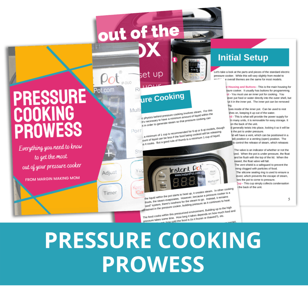 mockup images of the pages in pressure cooking prowess