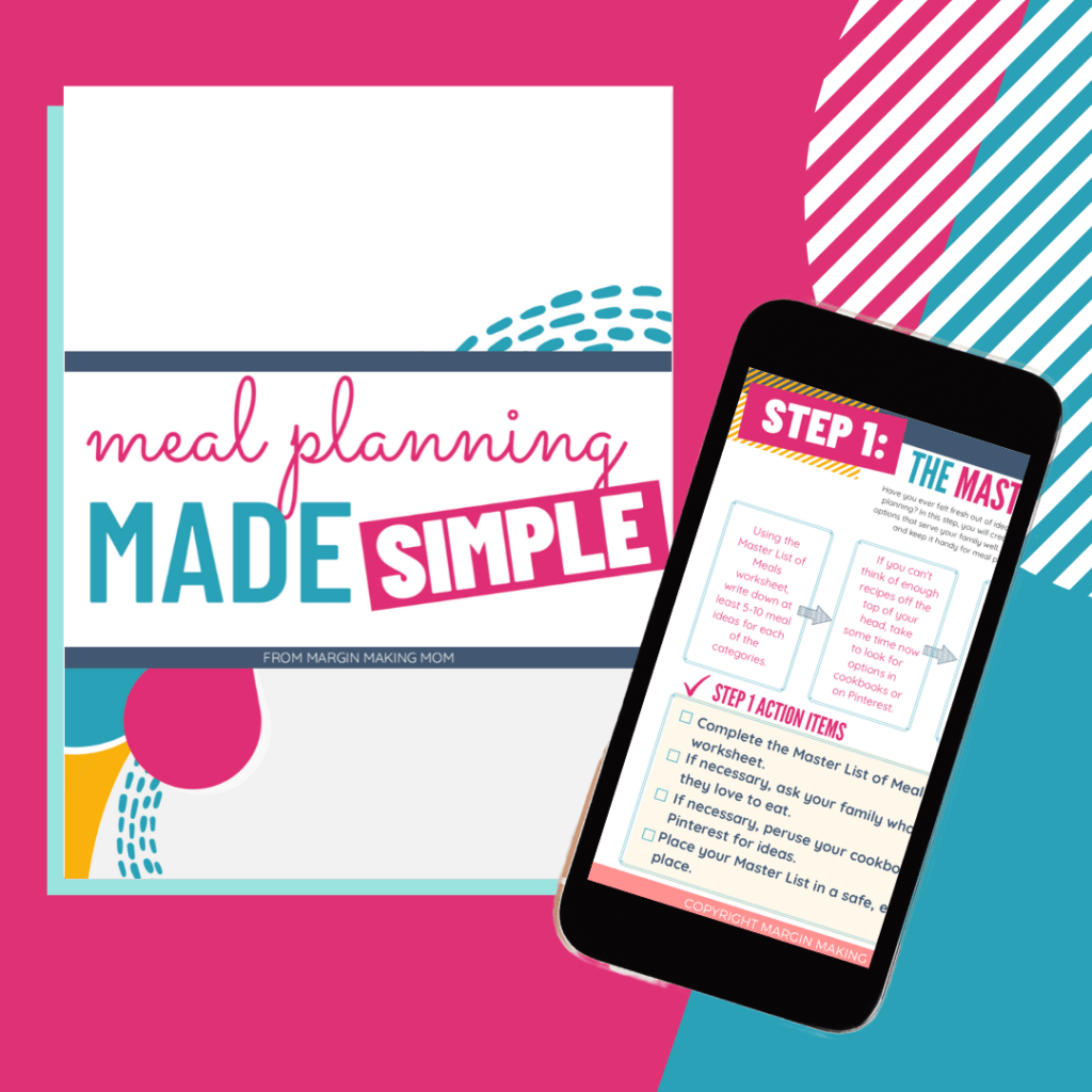 mockup image of meal planning made simple