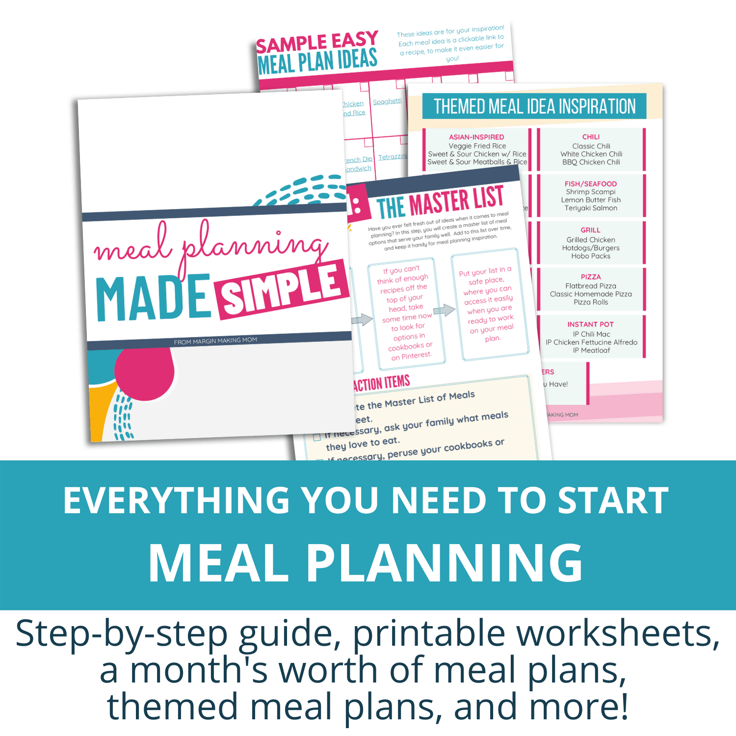 meal planning made simple mockup