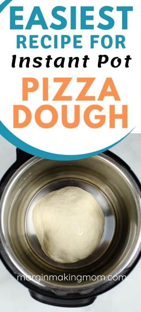 a round of pizza dough in the Instant Pot